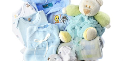 Canastilla bebe azul